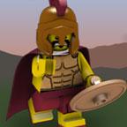 Лего Минифигурки — Спартанец кидает копьё