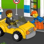 Лего заправка машин